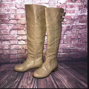 NWOT Qupid Tan Over the Knee Boots Size 8